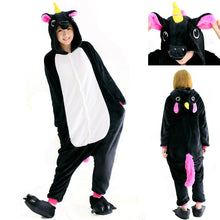 Load image into Gallery viewer, Black Pegasus Onesie Kigurumi Pajamas