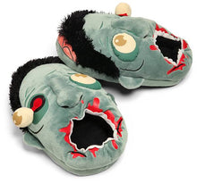 Load image into Gallery viewer, Plush Zombie Slippers