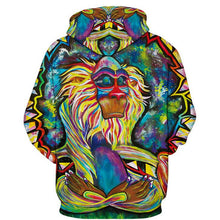 Load image into Gallery viewer, Psychedelic Rafiki Monkey Pullover Hoodie