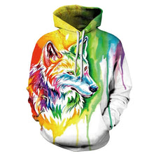 Load image into Gallery viewer, Watercolor Wolf Hoodie Jacket