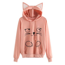 Load image into Gallery viewer, Kawaii Cat Hoodie With Ears