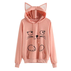 Kawaii Cat Hoodie With Ears