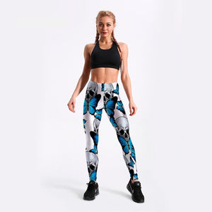 Butterfly and Skull Leggings