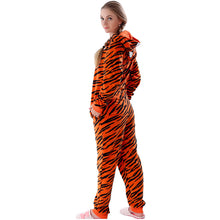 Load image into Gallery viewer, Adult Fleece Tiger Onesie Pajamas