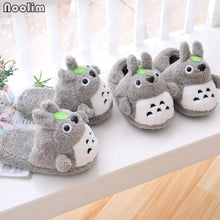 Load image into Gallery viewer, Totoro Anime Plush Slippers