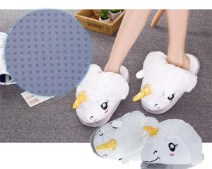 Adult Unicorn Plush Slippers