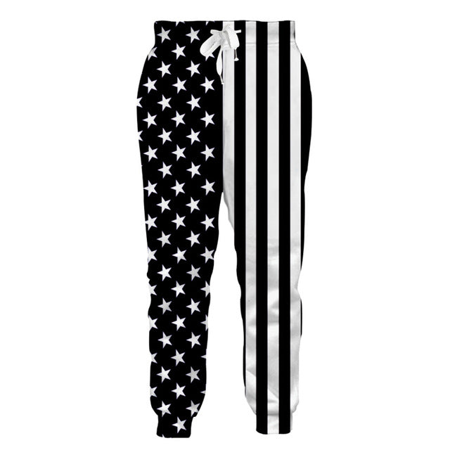 American Flag Sweat Pants Joggers