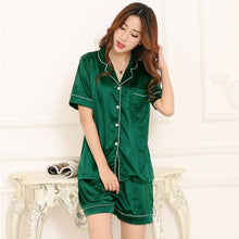 Load image into Gallery viewer, Women's Satin Two Piece Pajamas Set