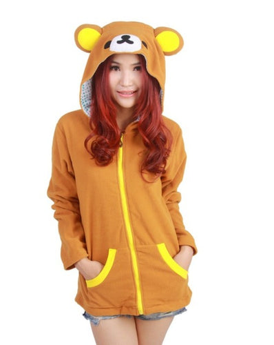 Women's Teddy Bear Hoodie With Ears
