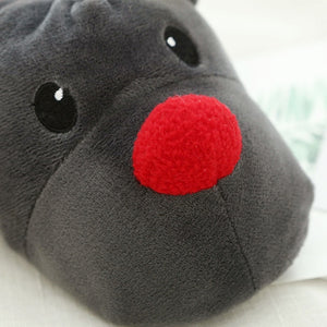 Cute Reindeer Plush Winter Rudolph Slippers