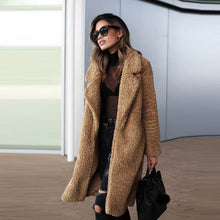Load image into Gallery viewer, Teddy Bear Fluffy Sherpa Womens Long Winter Coat