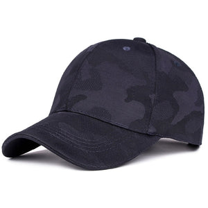 Dark Blue Monotone Camo Dad Hat Baseball Cap