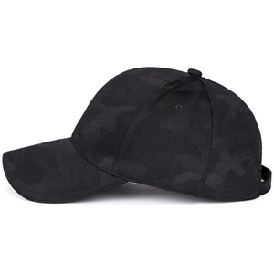 Black Monotone Camo Dad Hat Baseball Cap