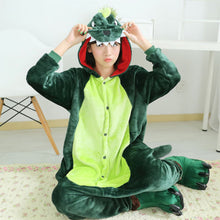 Load image into Gallery viewer, Dinosaur Onesie Kigurumi Pajamas