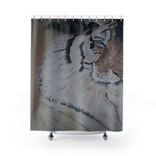 "Load image into Gallery viewer, Tiger Animal Print ""The Eye Of The Tiger"" Shower Curtain"