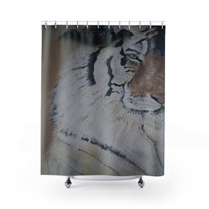 "Tiger Animal Print ""The Eye Of The Tiger"" Shower Curtain"