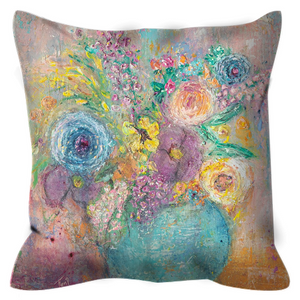 """Blooming Spring "" Floral Outdoor Pillow"
