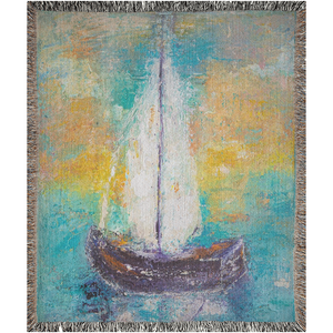 """Sail Away With Me"" Woven Tapestry Blankets"