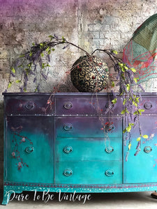 vintage hand painted buffet