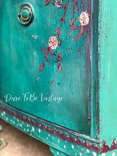 Load image into Gallery viewer, hand painted floral dresser