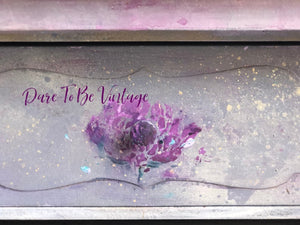 SOLD Hand Painted Whimsical Floral Desk