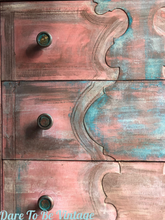 Load image into Gallery viewer, SOLD Hand Painted Southwestern Style Turquoise Coral Dresser