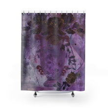 "Load image into Gallery viewer, ""Trailing Romance"" Shower Curtain"
