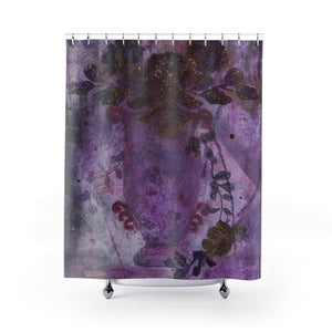 """Trailing Romance"" Shower Curtain"