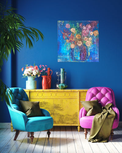 'Color My World' Premium Canvas Art