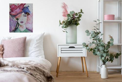 'Cover Me In Flowers' Portrait Canvas Art