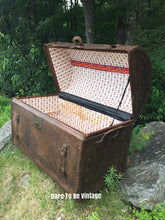 Load image into Gallery viewer, SOLD Antique 18th Century Leather Steamer Trunk