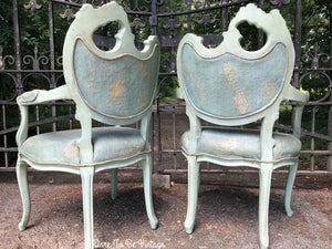 SOLD Hollywood Regency Arm Side Chairs