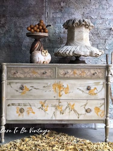 SOLD Vintage Shabby Cottage Dresser Buffet