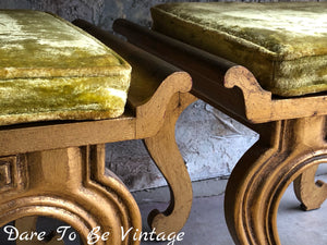 Rare Vintage Francisco Hurtado Hollywood Regency Console Table With Ottomans