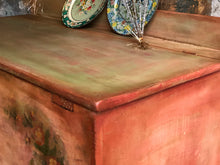 Load image into Gallery viewer, SOLD Vintage Painted Rustic Farmhouse Blanket Chest Box