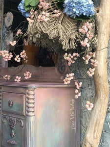 Sold 'Make Me Blush' Hand Painted Floral Vanity