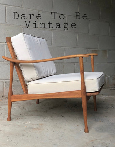 SOLD Mid Century Modern Italian Lounger Chair