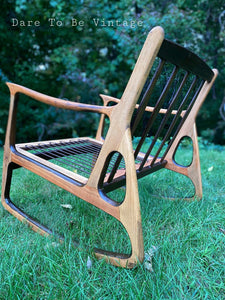 Sold Mid Century Italian Rocker Rocking Chair