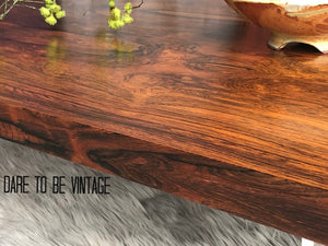 SOLD Milo Baughman Rosewood Lucite Coffee Table