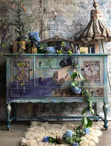 SOLD Miss Violet's Garden Whimsical Buffet