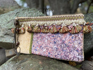 'Queen Bee' Boho Handmade Clutch Purse Handbag