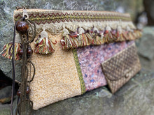 Load image into Gallery viewer, 'Queen Bee' Boho Handmade Clutch Purse Handbag