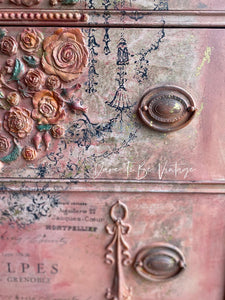SOLD 'Rosa Delicata'  Hand Painted Romantic Dresser