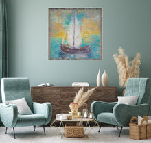"Load image into Gallery viewer, ""Sail Away With Me"" Woven Tapestry Blankets"
