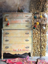 Load image into Gallery viewer, vintage hand painted dresser