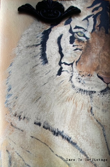 'The Eye Of The Tiger ' Fine Art Print 8 X 12