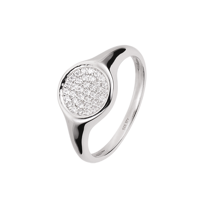 Clear Signet Ring