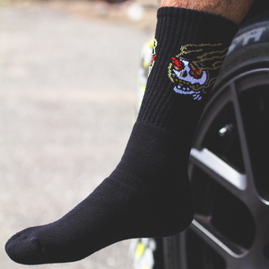Braap Vlogs Skull Socks (Black)