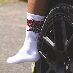 Braap Vlogs Skull Socks (White)