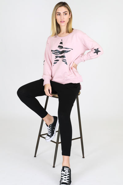 Star Sweater - Blush